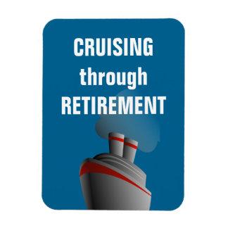 Cruising Through Retirement Rich Aqua Rectangular Photo Magnet