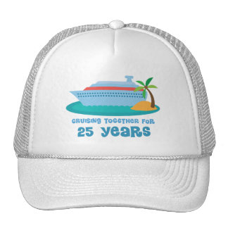 Cruising Together For 25 Years Anniversary Gift Hats