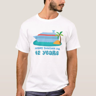 Cruising Together For 42 Years Anniversary Gift T-Shirt