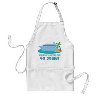 Cruising Together For 46 Years Anniversary Gift Standard Apron