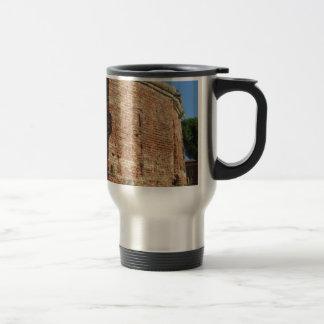 Crumbling brick wall stainless steel travel mug