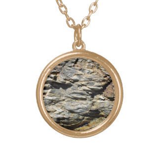 Crumbling Rock Cliff Texture Personalized Necklace
