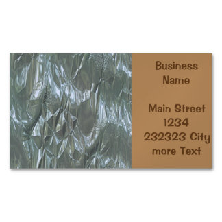 crumpled foil blue magnetic business cards