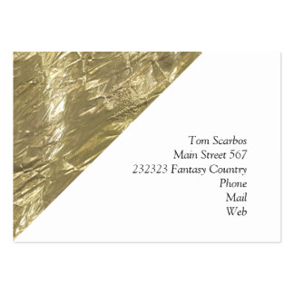 crumpled foil golden pack of chubby business cards