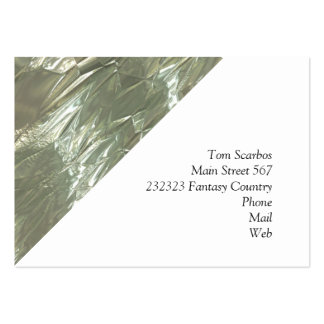 crumpled foil silver pack of chubby business cards