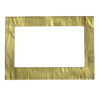 Crumpled Gold Foil Christmas Wrapping Paper Magnetic Frame