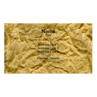 Crumpled Kraft Paper Texture Pack Of Standard Business Cards