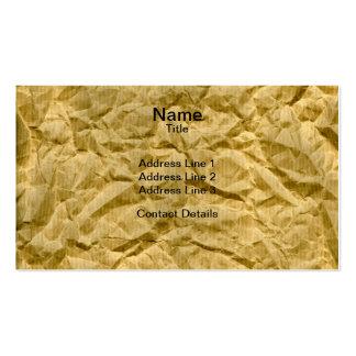 Crumpled Kraft Paper Texture Business Card