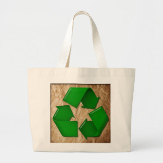 Crumpled Paper and Recycle symbol Bags