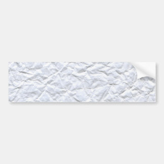 Crumpled Paper Bumper Sticker