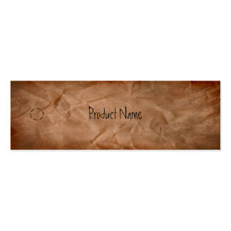 Crumpled Paper Hang Tag Pack Of Skinny Business Cards