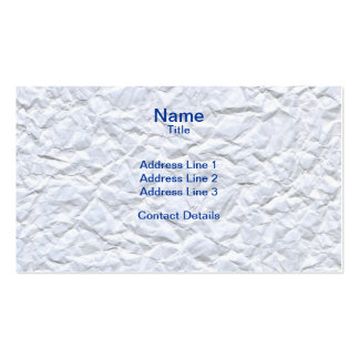 Crumpled White Paper Texture Pack Of Standard Business Cards