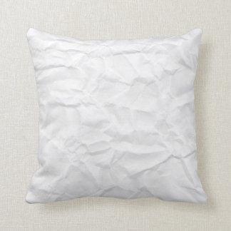 Crumpled white paper texture novelty custom pillow