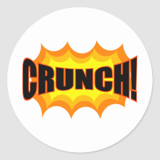 Crunch! Classic Round Sticker
