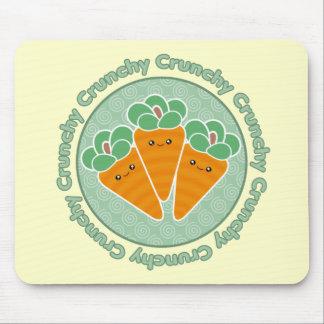 Crunchy Carrots Kawaii Mousepad