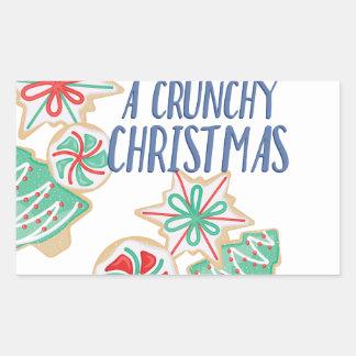 Crunchy Christmas Rectangular Sticker
