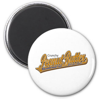 Crunchy Peanut Butter 6 Cm Round Magnet
