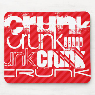 Crunk; Scarlet Red Stripes Mouse Pad