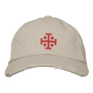 Crusader Cross - Custom Distressed Baseball Cap
