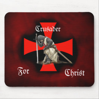 Crusader for Christ Mouse Pad