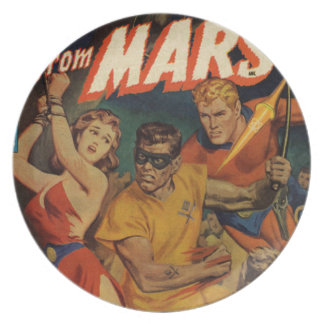 Crusader from Mars Party Plate