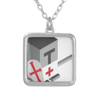 Crusader Silver Plated Necklace