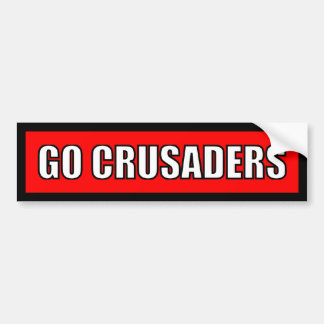 Crusaders - Black Red White Sticker Bumper Sticker