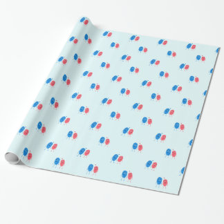 Crush prints wrapping paper