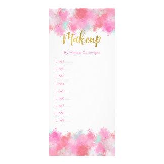Crushed Blush Pink Makeup Rack Card