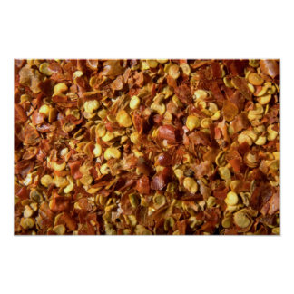 Crushed chilies poster