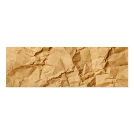 Crushed Wrinkled Brown Paper Grunge Background Business Card