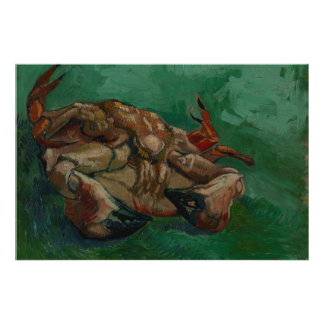 Crustacean Lying on His Back by Van Gogh Poster