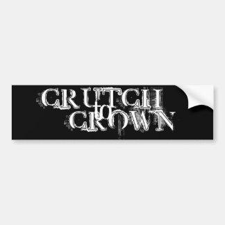 CRUTCH, red - Customized Bumper Sticker