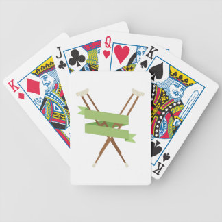 Crutches Bicycle Playing Cards