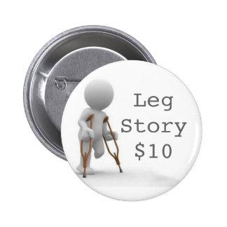 CRUTCHESLARGE, LegStory$10 6 Cm Round Badge