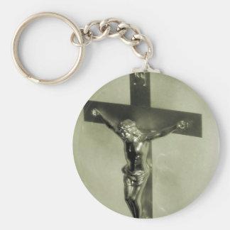 Cruucifixion of Christ Basic Round Button Key Ring