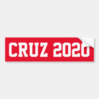 CRUZ 2020 - red Bumper Sticker