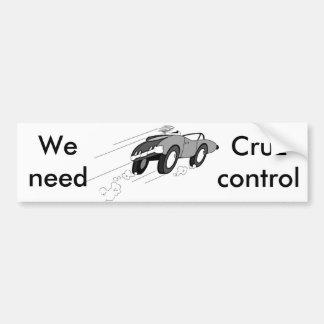 Cruz Control Bumper Sticker