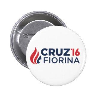 Cruz Fiorina '16 Logo 6 Cm Round Badge