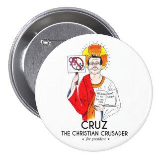 Cruz the Christian Crusader 7.5 Cm Round Badge