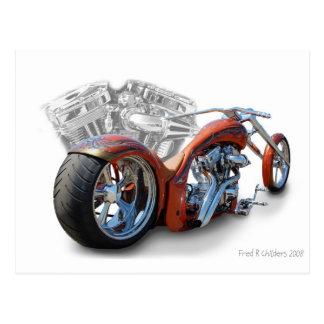 cruzin  motorcycle postcard