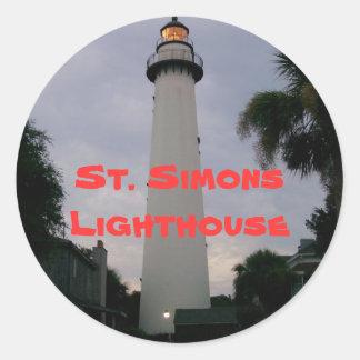CRW 001, St. Simons Lighthouse Round Sticker