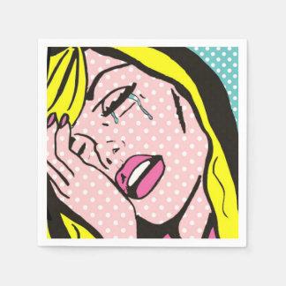 Cry Me a River Pop Art Paper Napkins Paper Napkin