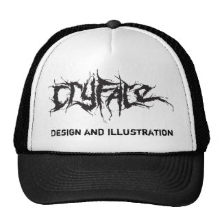 CRYFACE Design and Illustration Mesh Hats