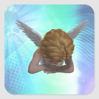 Crying Angel Square Sticker