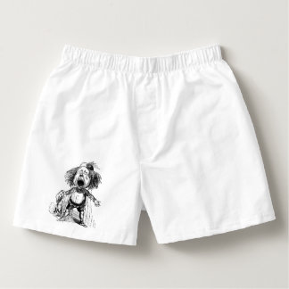 Crying Boy Cartoon Drawing Funny Black White Boxers