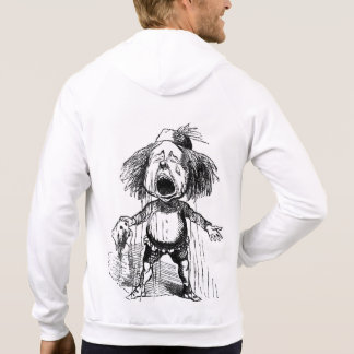 Crying Boy Funny Cartoon Vintage Drawing Emotional Hoodie