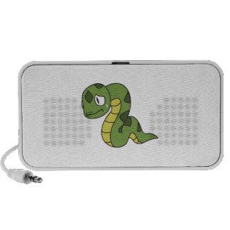 Crying Cute Green Snake Greeting Cards Mugs Pin Laptop Speaker