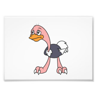 Crying Cute Ostrich Bird Mug Greeting Cards Art Photo
