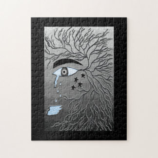 Crying Eye Jigsaw Puzzle